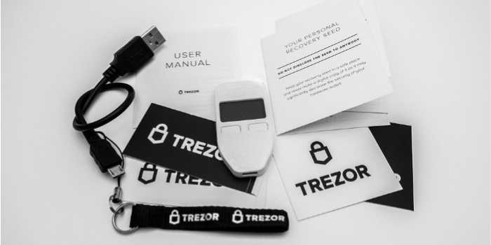 Cold wallet Bitcoin Trezor One Contenuto