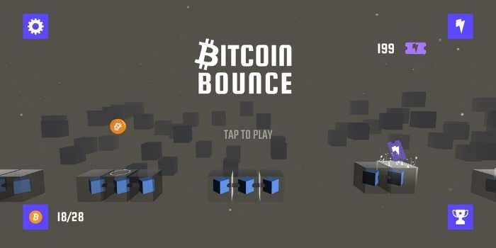 Bitcoin Bounce per guadagnare Satoshi giocando