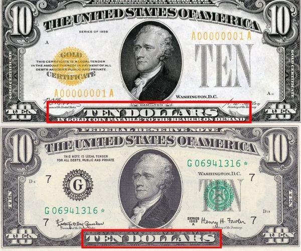 Evoluzione del dollaro da convertibile in oro a moneta Fiat