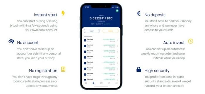 L'app Relai - dove comprare bitcoin senza KYC
